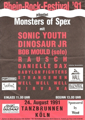 Sonic Youth 08 24 91 Koln Germany Monster Of Spex