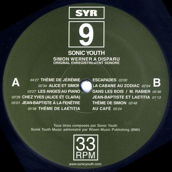 Sonicyouth Com Discography Album Syr 9 Simon Werner A