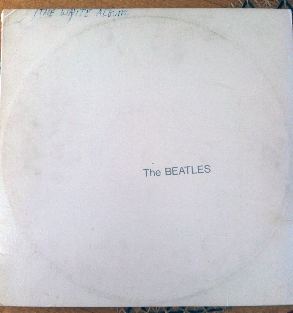 When I got it (in 1978, when I was ten) I liked the White Album nickname so much I scrawled it on the cover…
