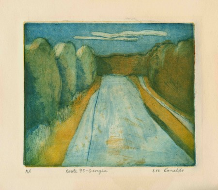 Route 95-Georgia (1977), 3 color, 3 plate etching